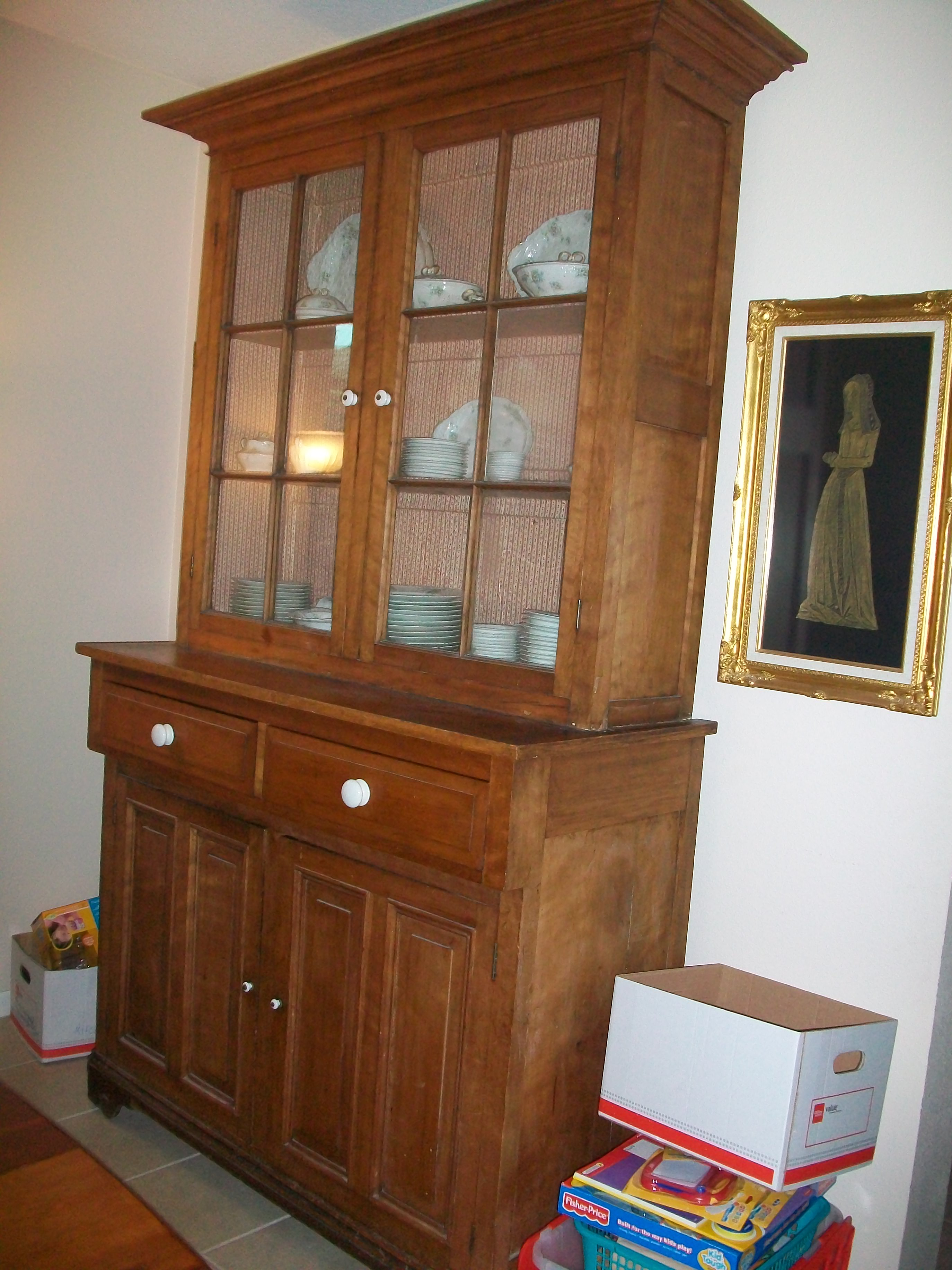 Antique Amish Stepback Cupboard For Sale Antiques Com