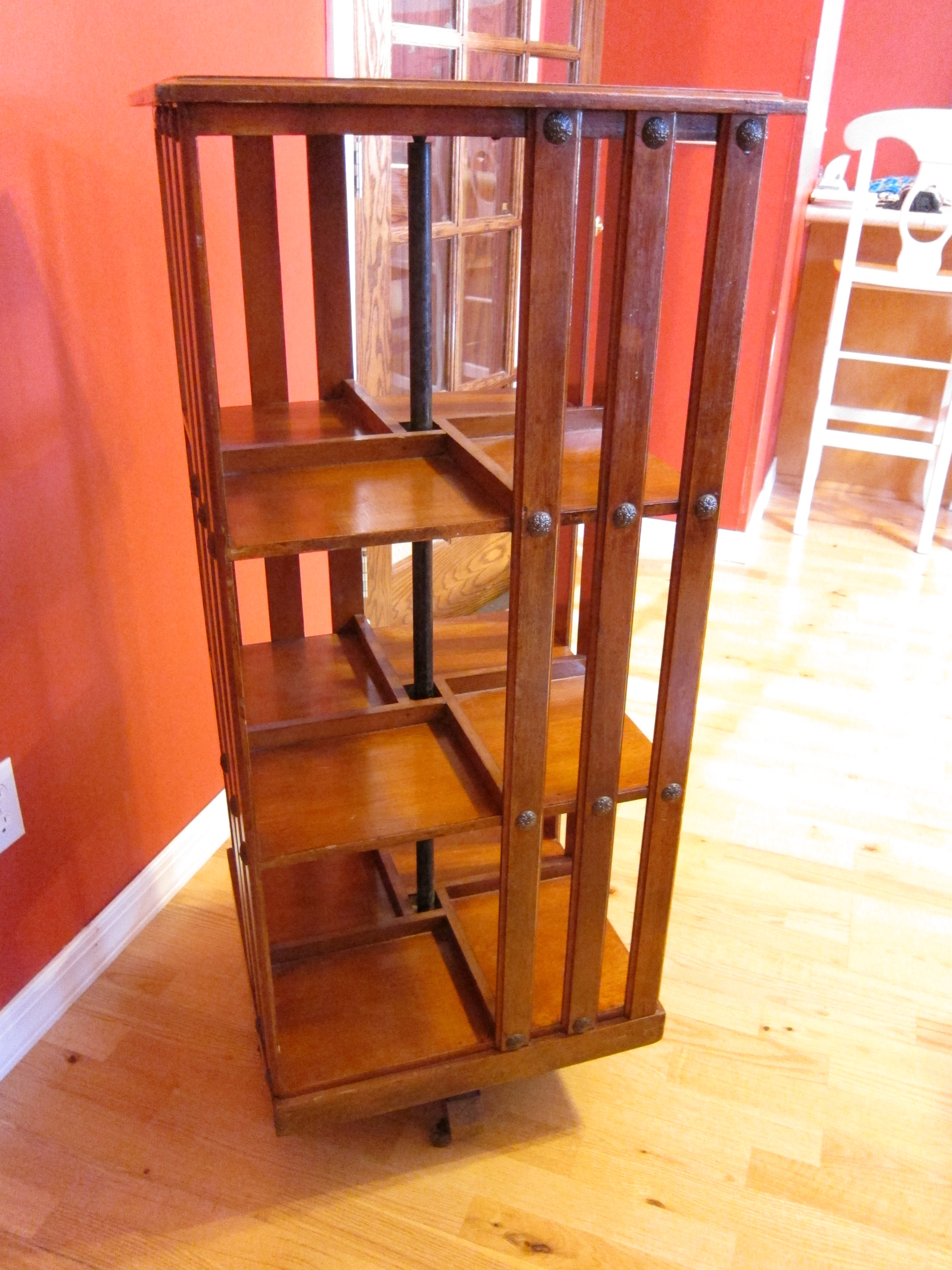 This A Beautiful Rare Danner Revolving Bookcase It Is Stamped With The Stamp And 23 Measures 45 Tall 20 Square