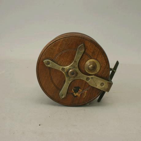 Wooden fishing reel made by millwards for sale antiques for Antique fishing reels