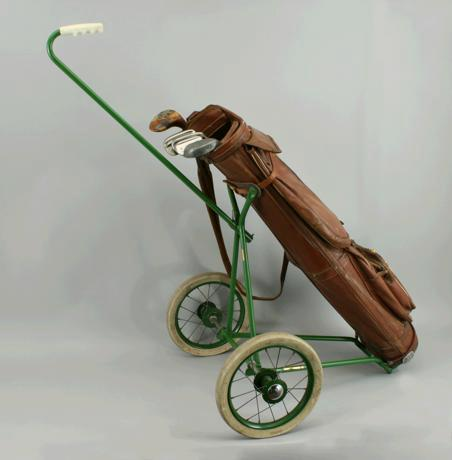Vintage leather golf bags for sale