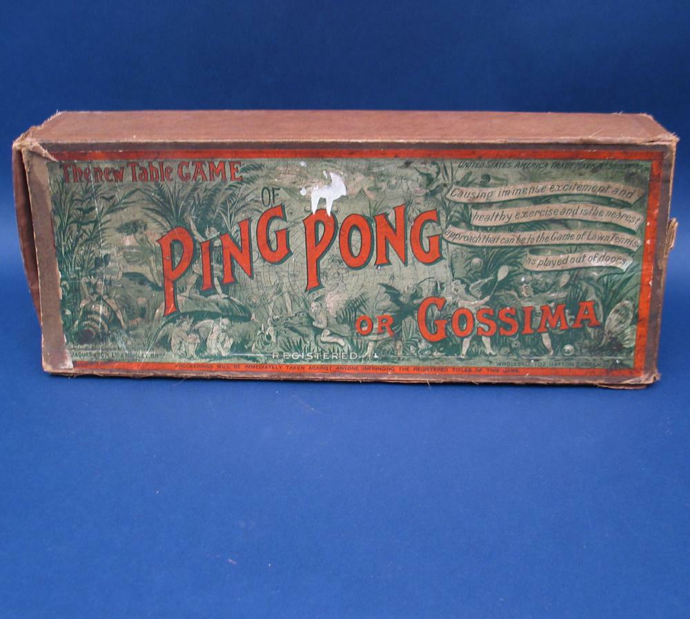 Antique Gossima Table Tennis Ping Pong Set Jaques For