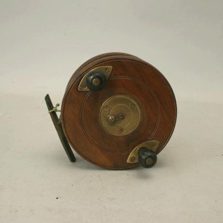 Wooden fishing reel made by millwards for sale antiques for Vintage fishing reels for sale