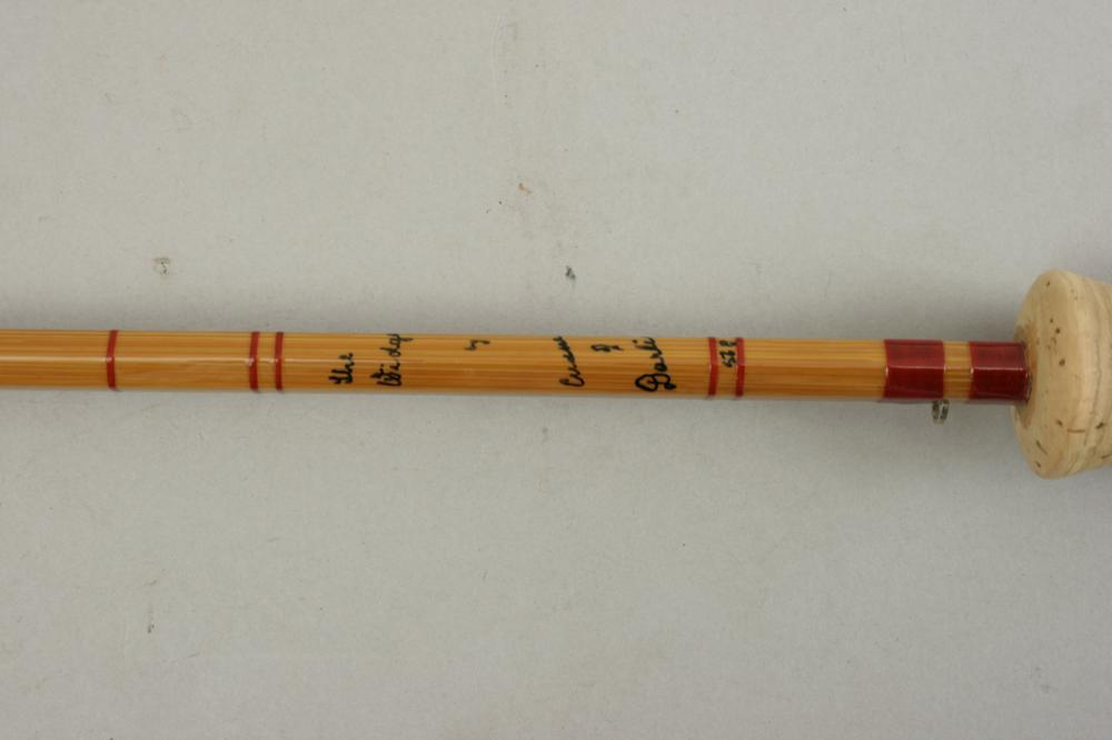 Antique split cane fly fishing rod cummings 39 the widgeon for Old fishing poles