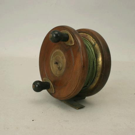 wooden fishing reel made by millwards for sale | antiques, Fishing Reels