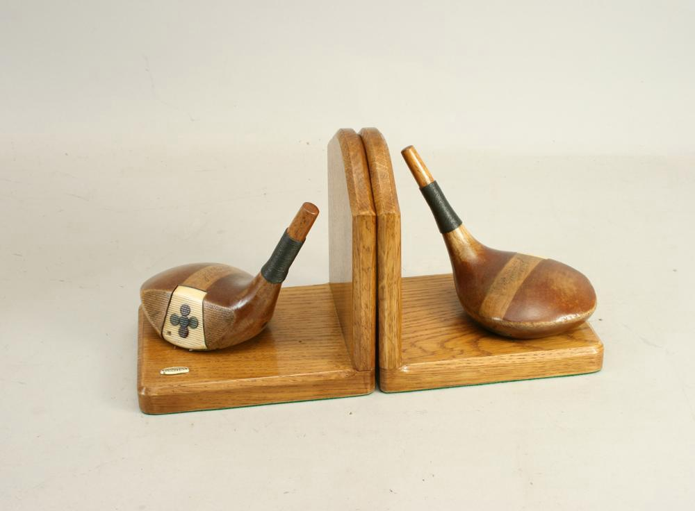 Hand Crafted Golfing Bookends For Sale Antiques Com