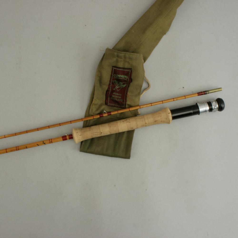 Antique split cane fly fishing rod cummings 39 the widgeon for Old fishing rods