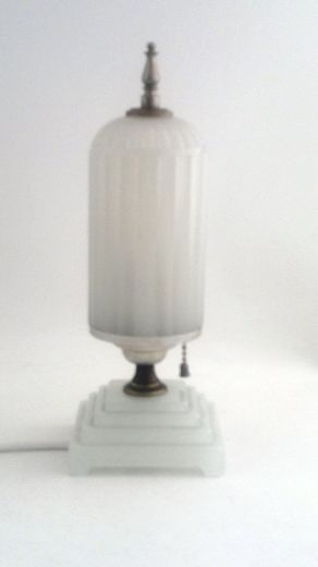 Art deco milk glass table lamp item 699 for sale antiques art deco milk glass table lamp item 699 for sale mozeypictures Choice Image