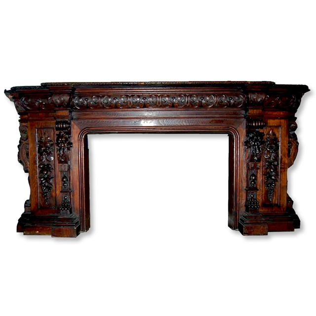 Antique Carved Mahogany Fireplace Mantel For Sale Classifieds