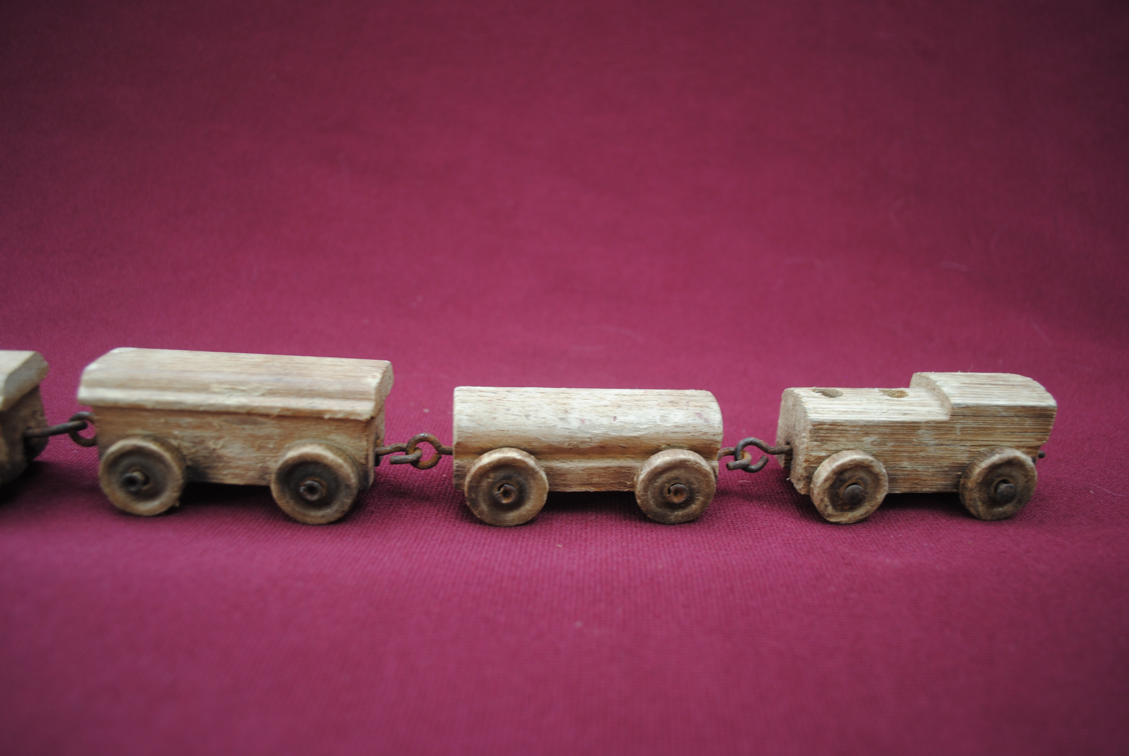 Old Toy Trains : Old wooden train pull toy t for sale antiques