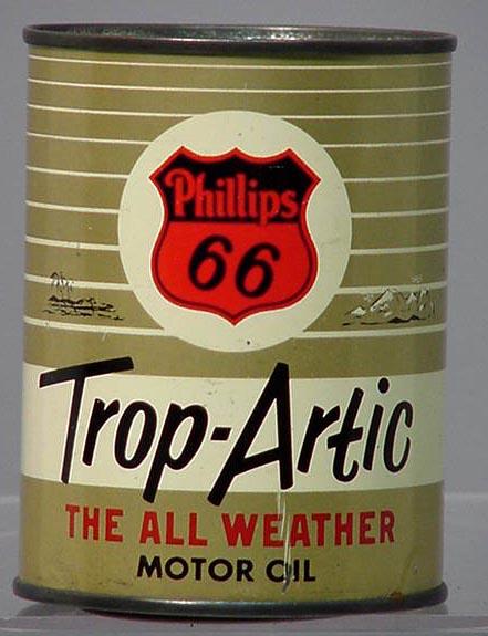Vintage Phillips Trop Artic Oil Tin Bank Nr For Sale