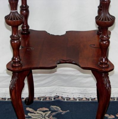 Fancy Shaped Cherry Lamp Table F-4062 For Sale