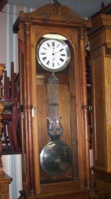Floor Model Walnut Jewelers Regulator For Sale Antiques