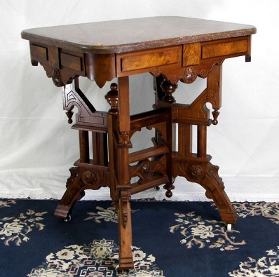 Victorian marble top table f 3948 for sale antiquescom for Antique victorian marble top coffee table