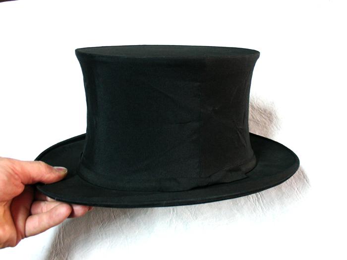 Rare WOODROW LONDON antique folding top hat For Sale ...