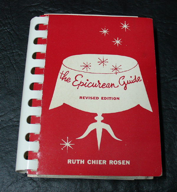 the epicurean guid ruth chier rosen spiral 1956 in box for sale classifieds. Black Bedroom Furniture Sets. Home Design Ideas