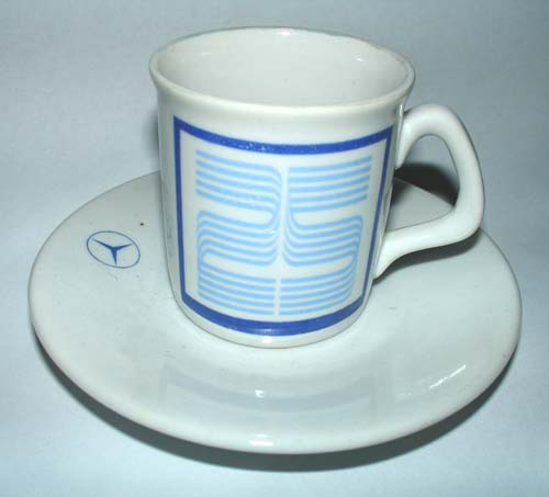 Mercedes benz argentina 25 aniv coffee cup 1951 1976 for Coffee cups for sale