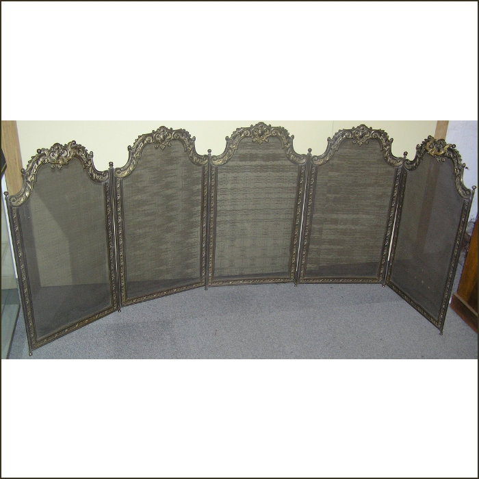 A French Brass Fire Screen For Sale Classifieds