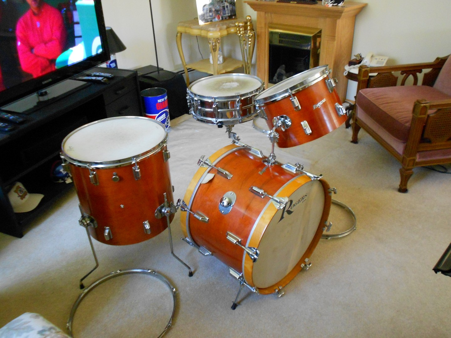 1967 rogers 3 piece drum set with 1967 ludwig chrome snare for sale classifieds. Black Bedroom Furniture Sets. Home Design Ideas