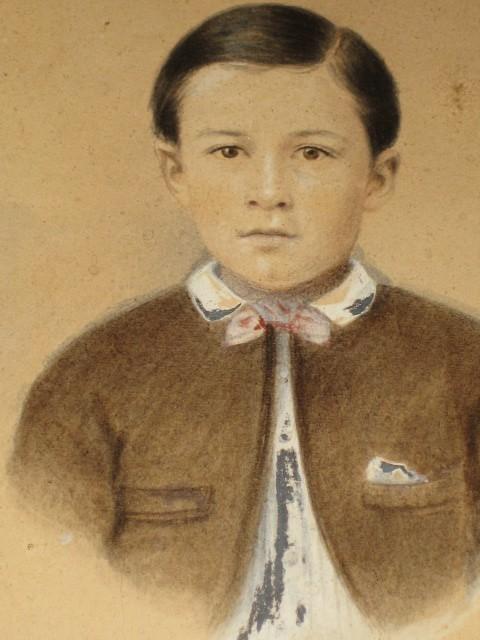 Antique civil war era child portrait picture oval frame for sale