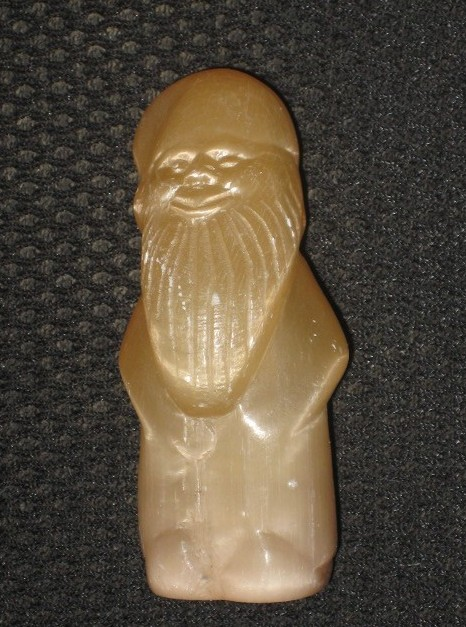 Rare russian eskimo carved calcite stone gnome for sale