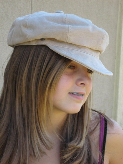 RETRO SUEDE LEATHER HIPPIE HAT GREAT STYLE CAP LOOK !! For Sale ... 95212cce8a0