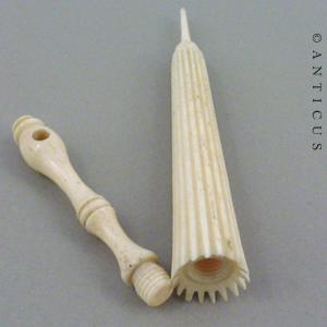 Victorian Carved Bone Needle Case Umbrella Shape E10637 For Sale Antiques Com Classifieds