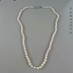Genuine Pearl Necklace Graduated Pearls E10808 For