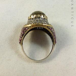 türkis ring gold