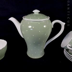 Shelley Retro Polka Dot Coffee Set M212 For Sale