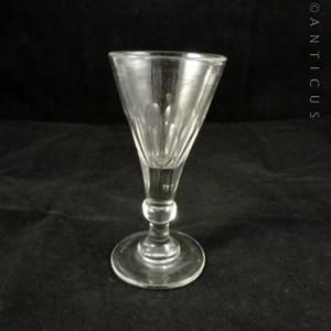 Georgian balustroid gin glass