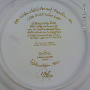 Christmas plate by Danish artist Bjorn Wiinblad. One of a series of rack plates illustrating Christmas Carols on fine porcelain produced by prestigious ... & Rosenthal Christmas Plate by Bjorn Wiinblad 1983. (C15074) For Sale ...