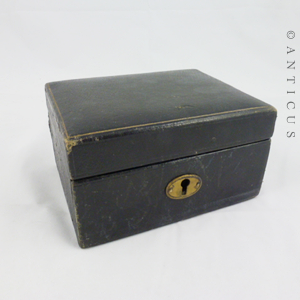 small morocco leather jewellery box antique e10412 for sale classifieds. Black Bedroom Furniture Sets. Home Design Ideas