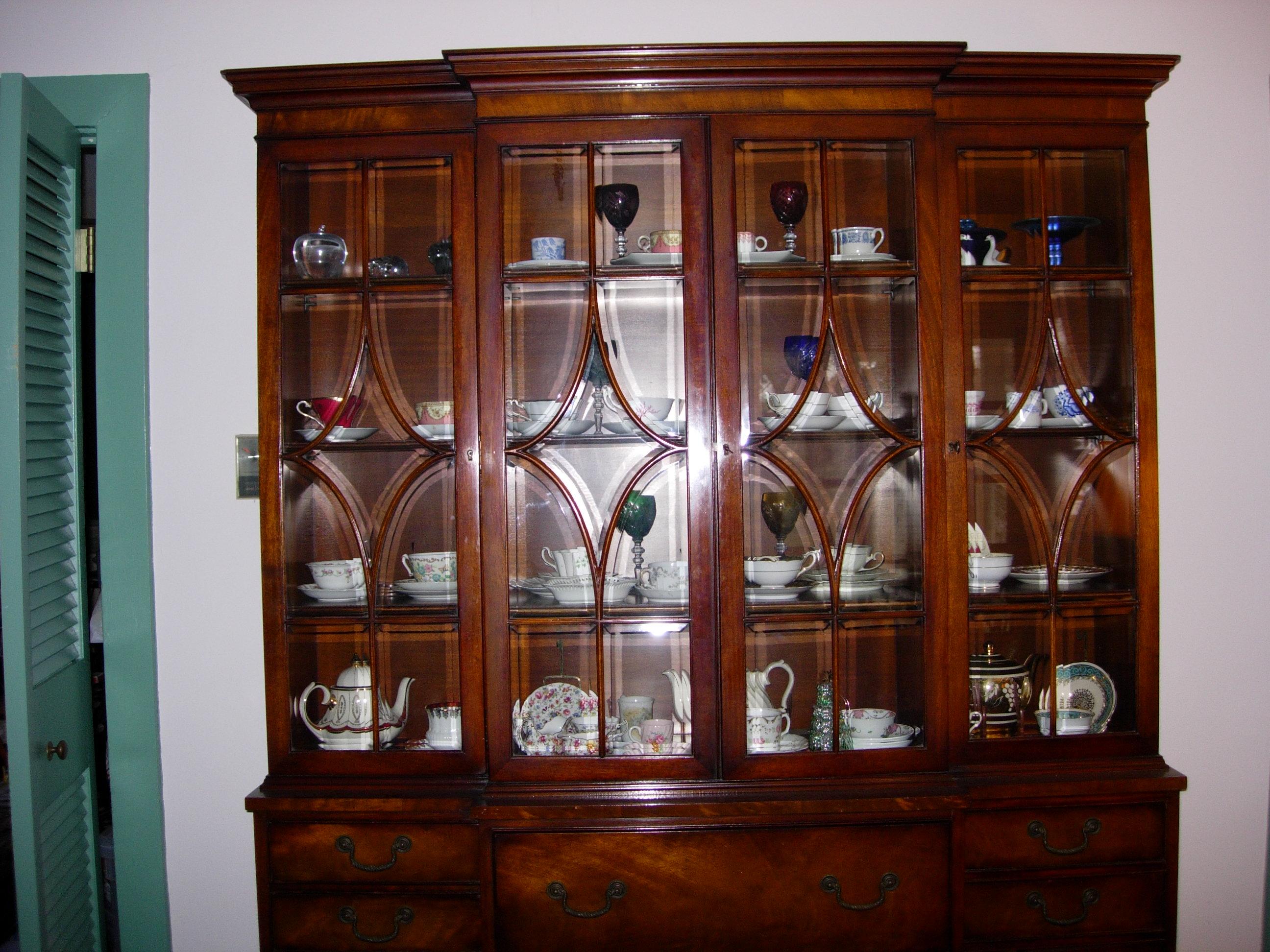 Mahogany China cabinet/ secretary/bookcase- Henredon For Sale ...