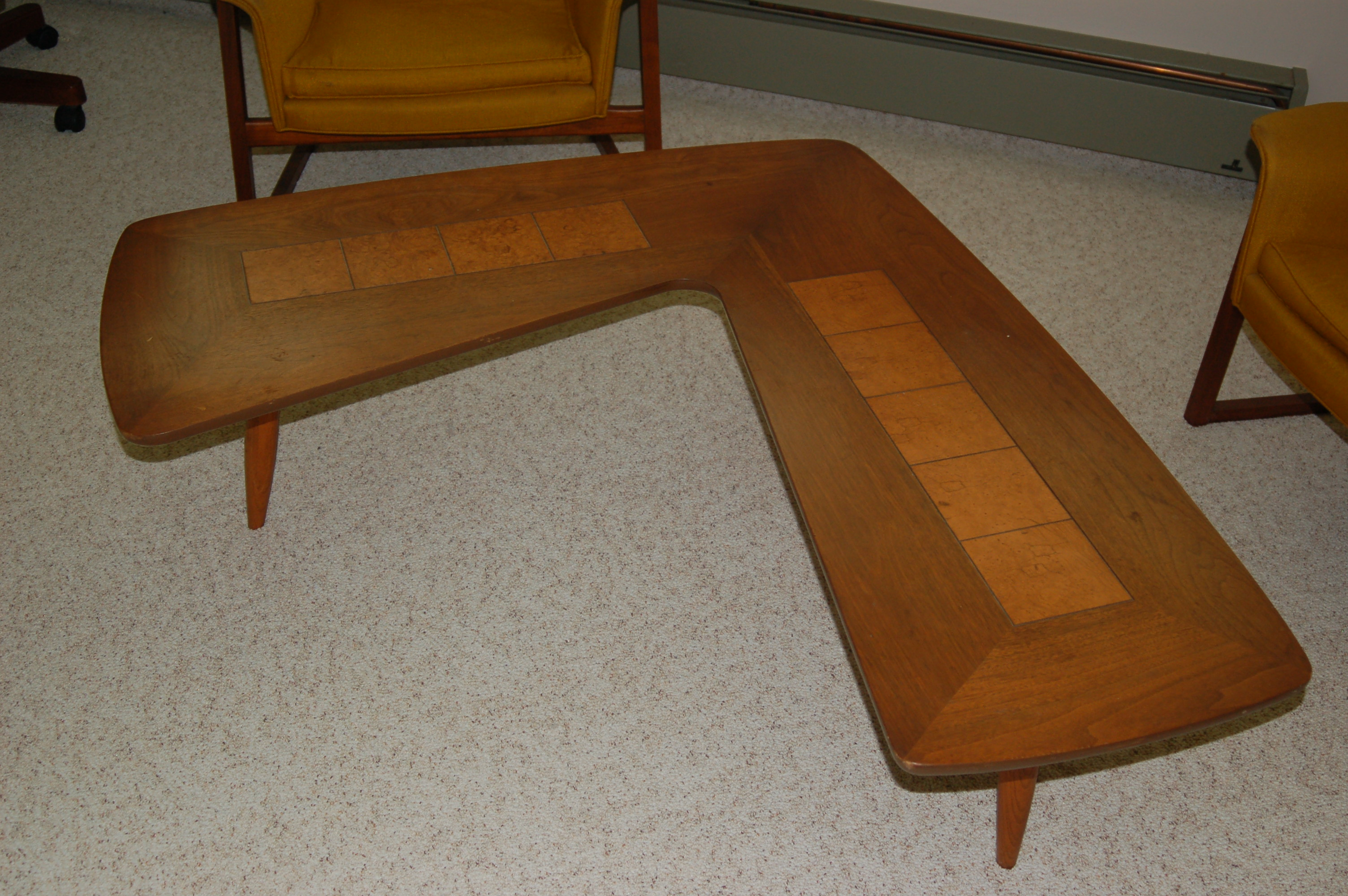 Awesome Rare Mid Century 1960 S Boomerang Table For Sale