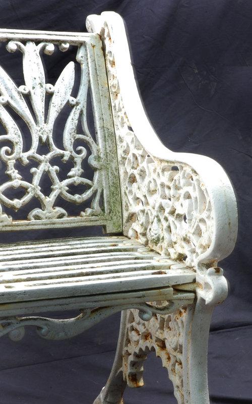 Cast Iron Garden Bench   For Sale