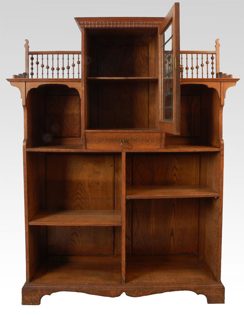 Arts and crafts oak open bookcase for sale for Arts and crafts for sale