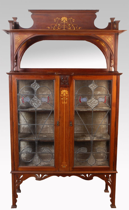 Art Nouveau Inlaid Mahogany Display For Sale Classifieds