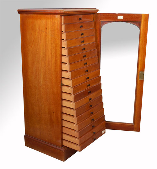 Victorian Mahogany Collectors Cabinet - For Sale - Victorian Mahogany Collectors Cabinet For Sale Antiques.com