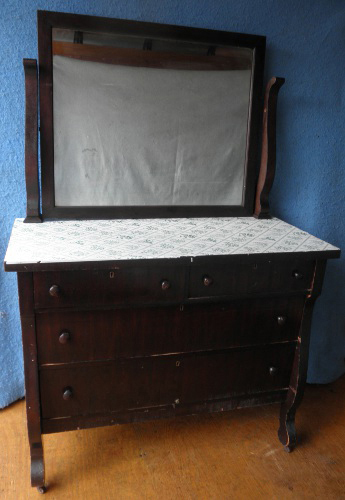 Empire Dresser With Mirror B5171 For