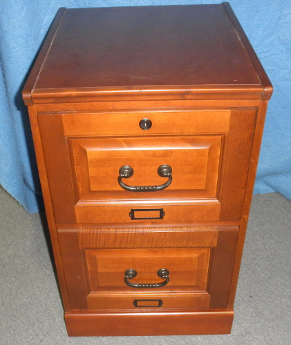 Two drawer file cabinet oak y1153 for sale for Kitchen drawers for sale