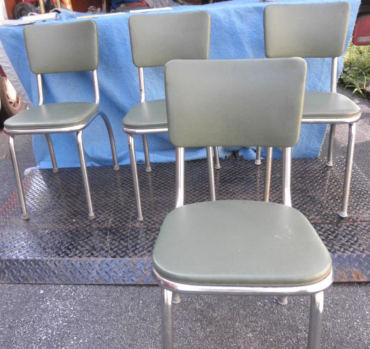 Vintage Kitchen Chairs For Sale: Chairs Kitchen Chrome Legs B5273 For Sale