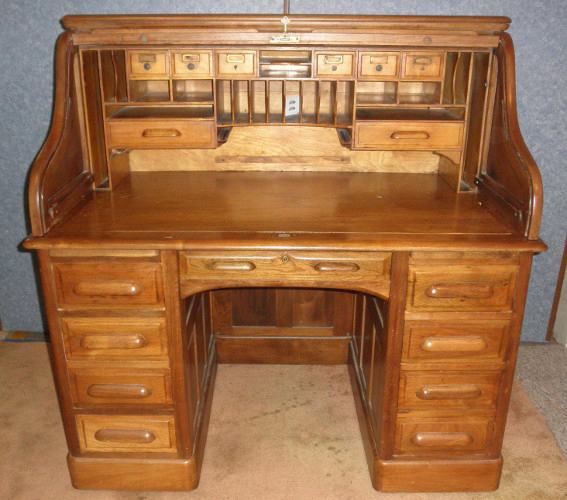 Desk S Roll Top B5422 For Sale Antiques