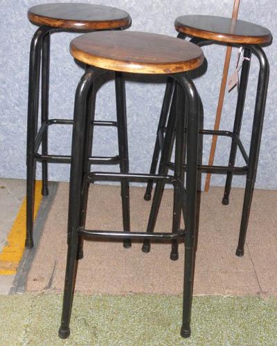 3 vintage bar stools b5284 for sale