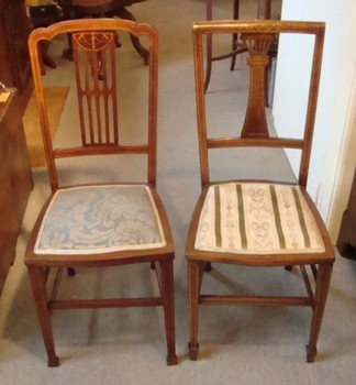 Pair Of Edwardian Mahogany Bedroom Chairs 2769 For Sale Cl