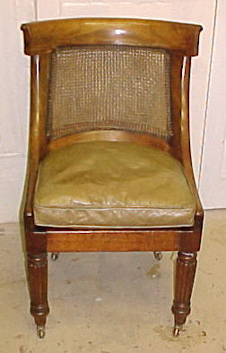 Incredible Georgian Mahogany Bergere Desk Chair 2473 J For Sale Machost Co Dining Chair Design Ideas Machostcouk