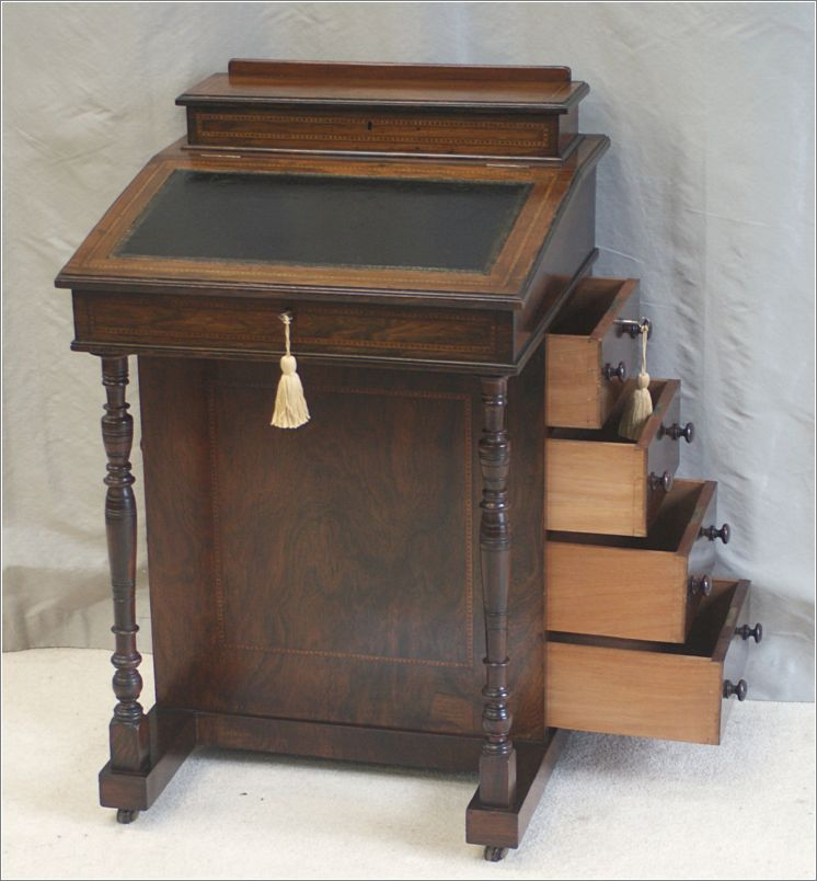 small antique victorian rosewood davenport desk ref 4024