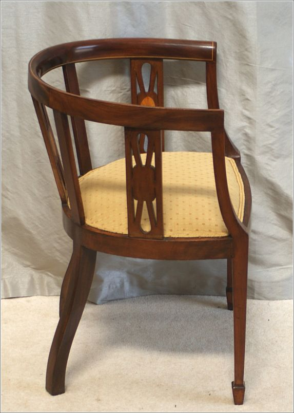 Antique Inlaid Mahogany Desk Chair Ref 9005 For