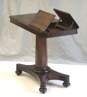 Beau Fine Quality Antique Mahogany Reading Table Or Stand. Dating From The Early  Victorian Period. Fully Adjustable In Height And Reach And With Original  Brass ...