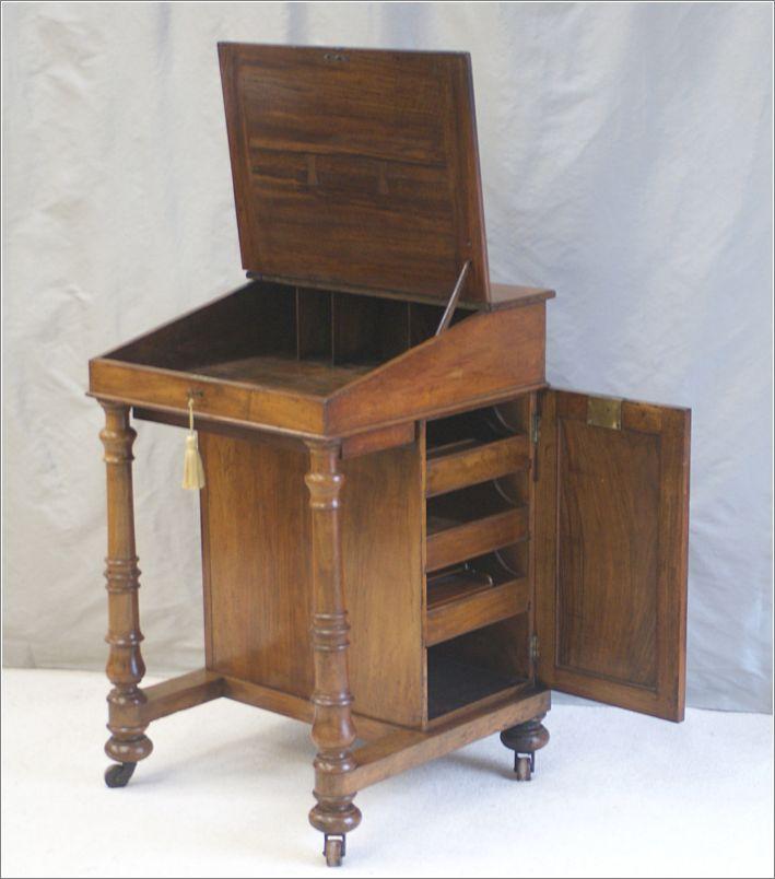 Antique victorian clerks desk davenport desk ref 4017 for for Victorian furniture plans