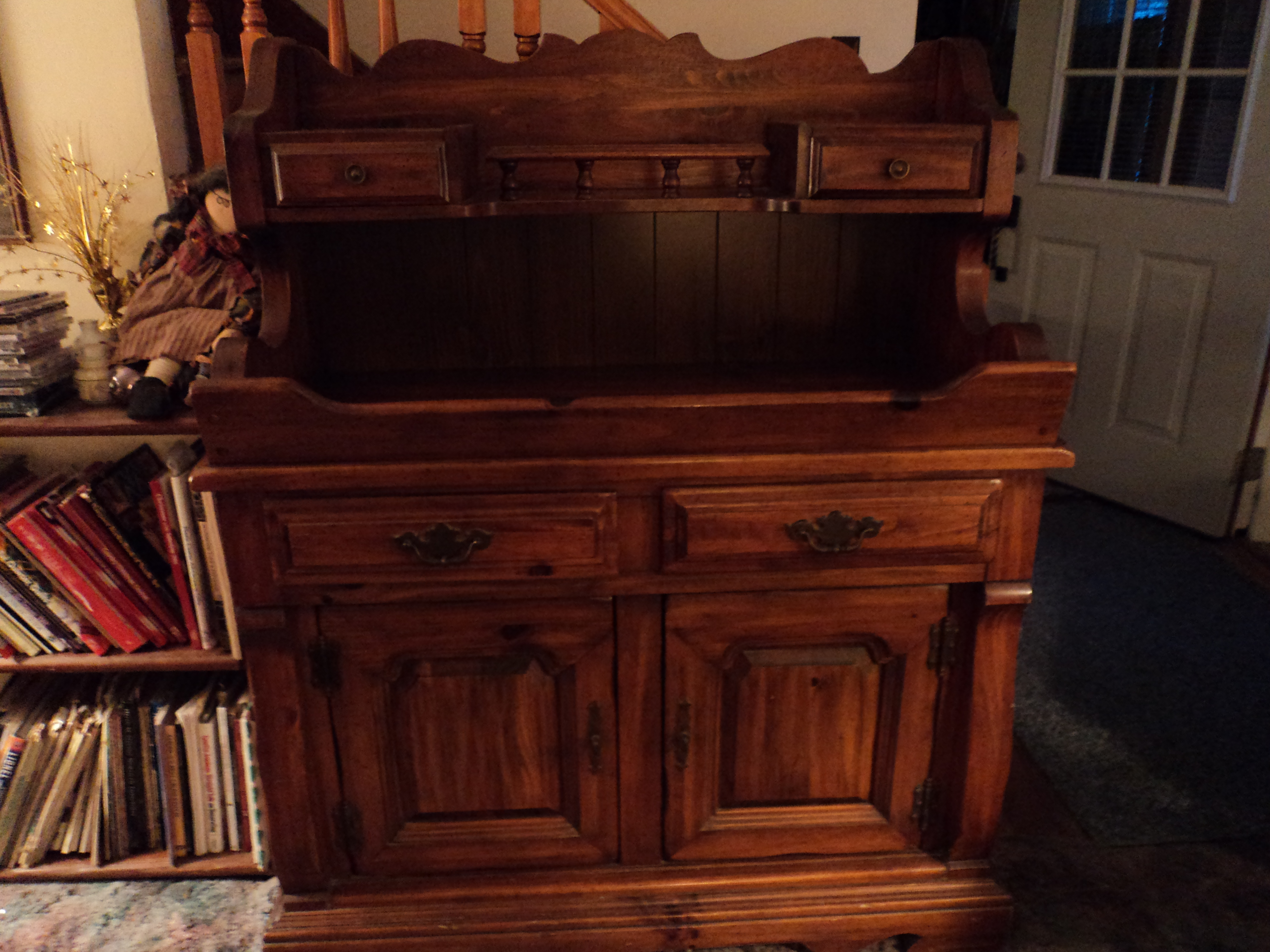 nice Antique Dry Sink For Sale Part - 8: country pine dry sink-buffet-server - For Sale